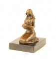 Bronzová socha soška - Maminka s miminkem