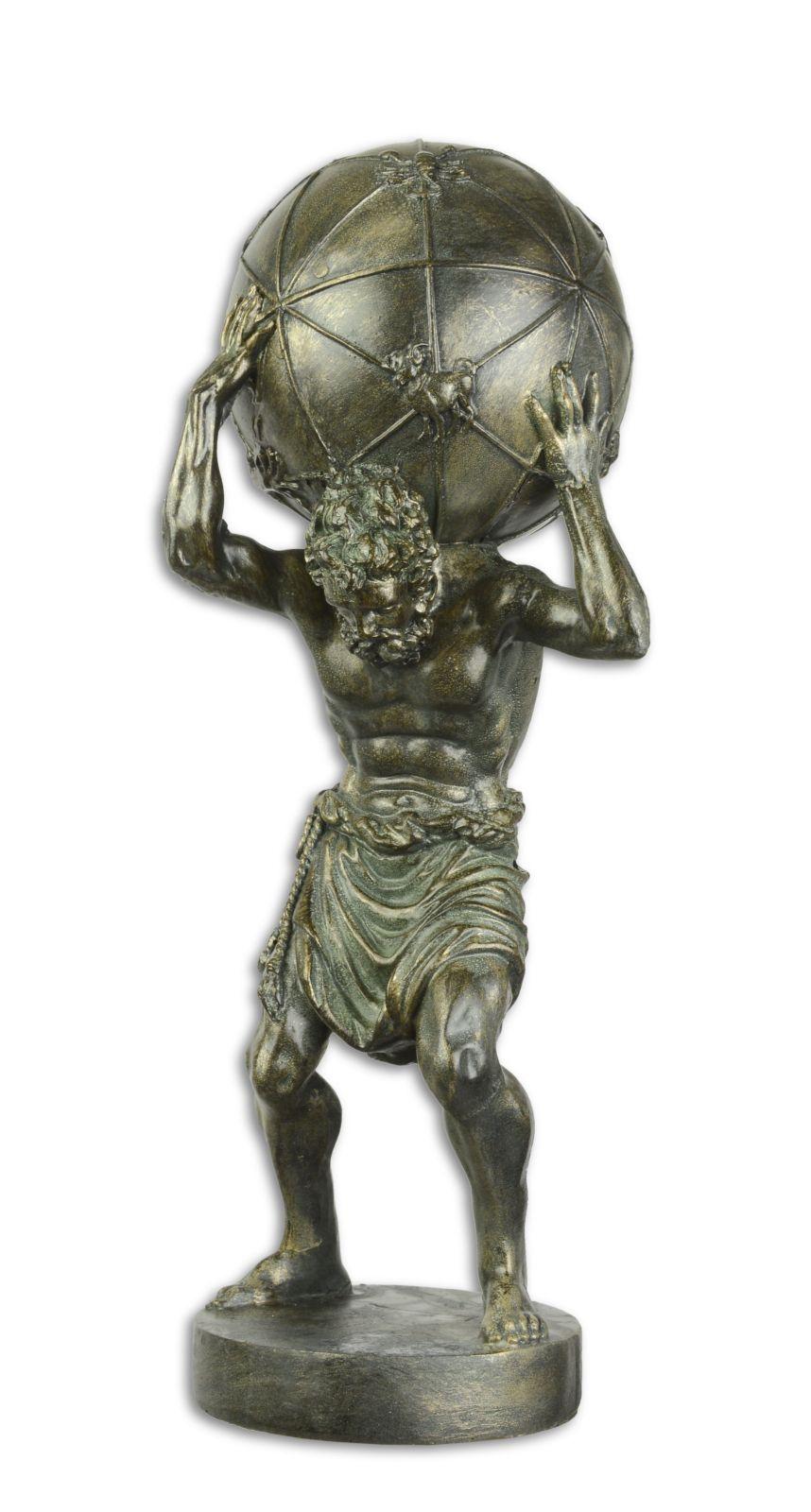Bronzová socha atlas