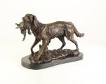 Velká bronzová socha - LOVECKÝ PES