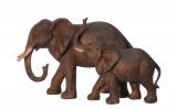 Soška slonice s mládětem