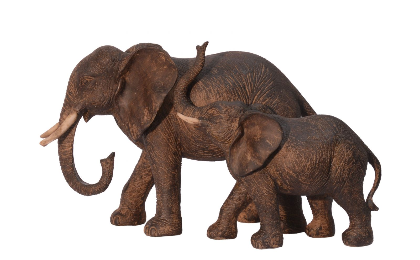 Polyresinová soška slon a mládě