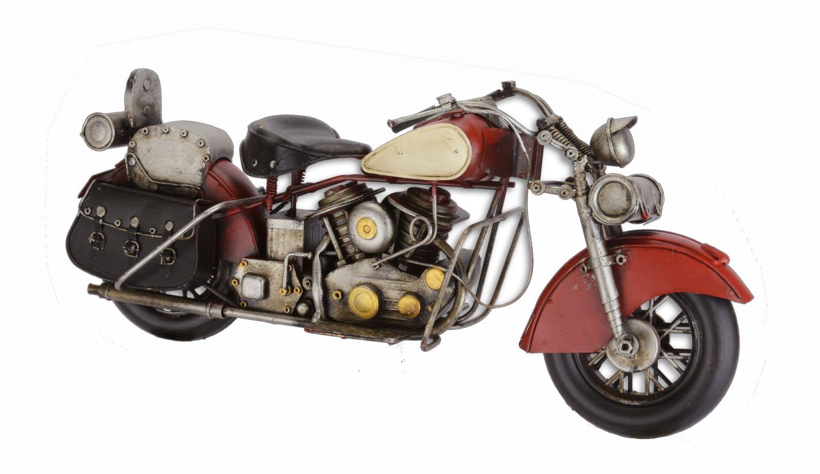 Kovová model červené motorky
