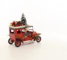 Kovový model vánoční auto