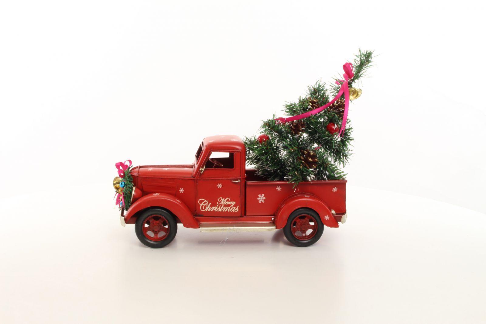 Kovový model vánoční pick-up BrokInCZ