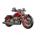Plechová závěsná cedule motorka