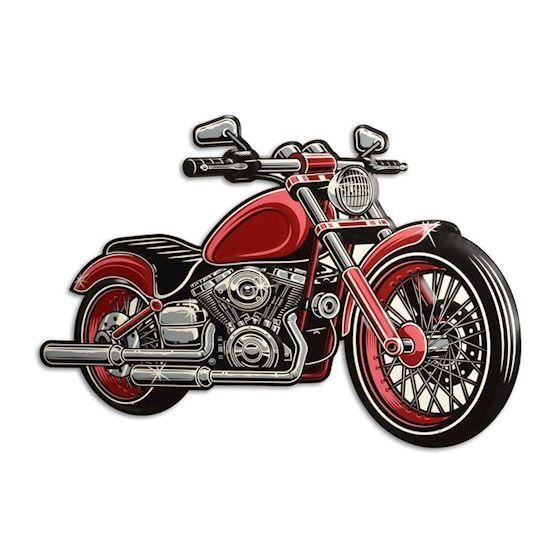 Plechová závěsná cedule motorka BrokInCZ