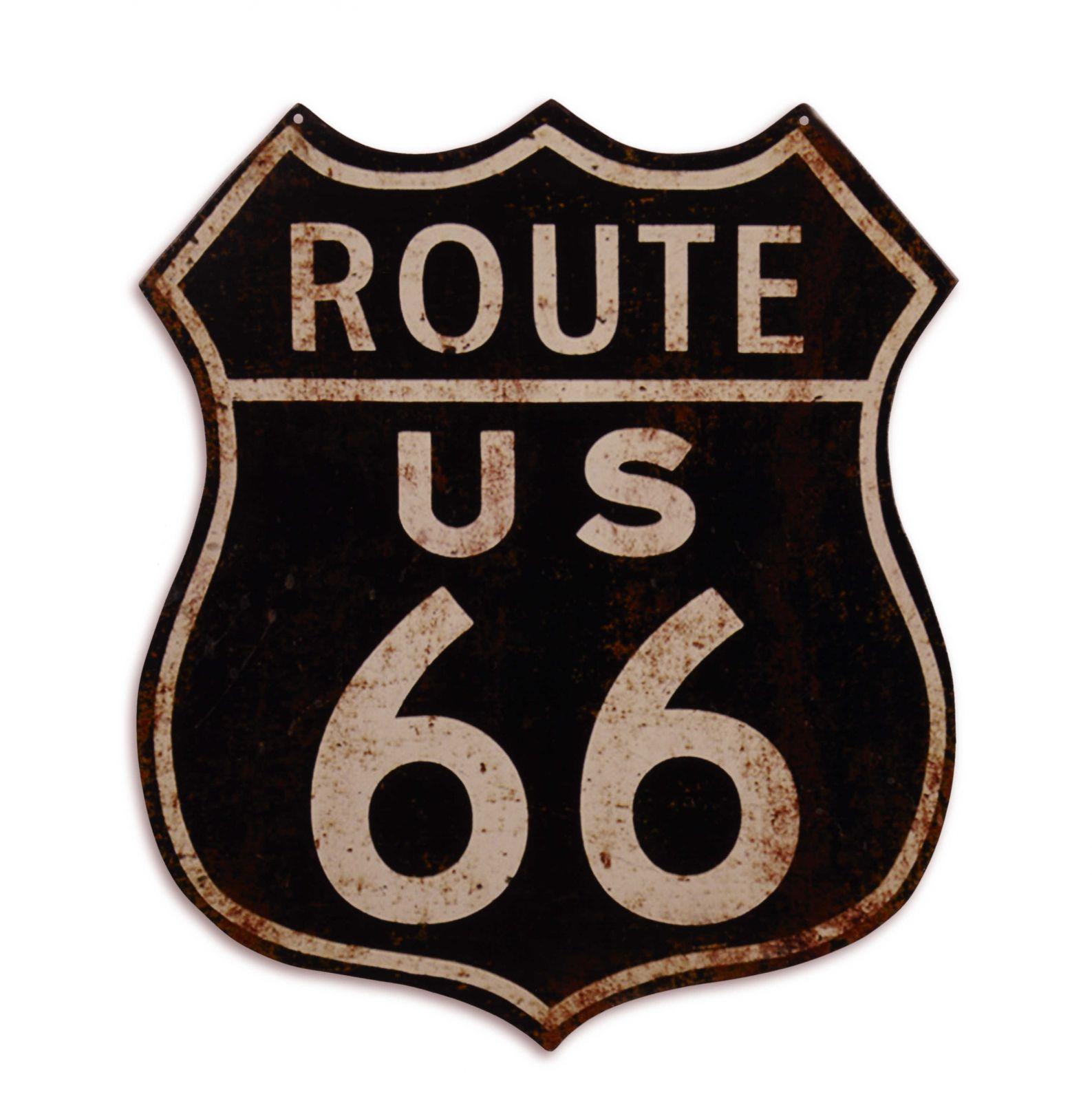 Plechová závěsná cedule - Route 66