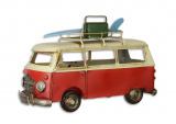 Plechový model -  retro autobus