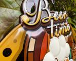 Plechová závěsná cedule - BEER TIME BrokInCZ