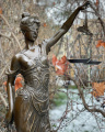 Velká socha spravedlnosti z bronzu