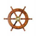 Dřevěný námořní lodní kormidlo