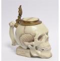 Porcelánová figurka - Lebka