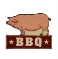 Plechová závěsná cedule - BBQ - Prase
