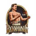 Plechová závěsná cedule - Boxing club