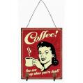 Plechová závěsná cedule - Coffee