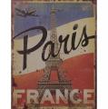 Plechová závěsná cedule - Paříž - Francie