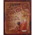 Plechová závěsná cedule - Pina Colada