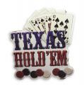 Plechová závěsná cedule - Poker - Texas Holdem