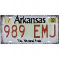 Plechová závěsná cedule - SPZ - Arkansas