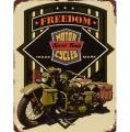 Plechová závěsná cedule - Svoboda - Vojenský motocykl