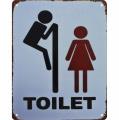 Plechová závěsná cedule - Toaleta