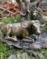 Polyresinová soška lva, pantera, buvola