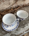 Sada porcelánových šálků s podšálky - cibulák
