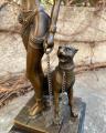 Bronzová socha soška Kleopatra