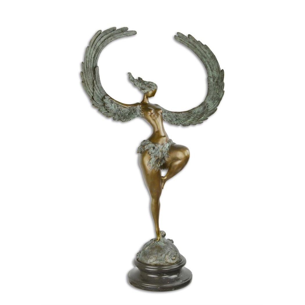 Velká socha Anděla Austria bronz