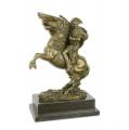 Velká bronz soška figurka Napoleon Bonaparte a kůň