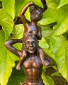 Bronzová socha soška Ďábel a malý Bacchus